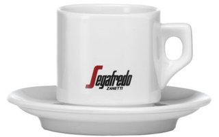 Segafredo Zannetti Set kopjes en schoteltjes (4 sets)