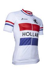 Fortissima Wielershirt Comfort - Heren - Retro-Holland   - Wit